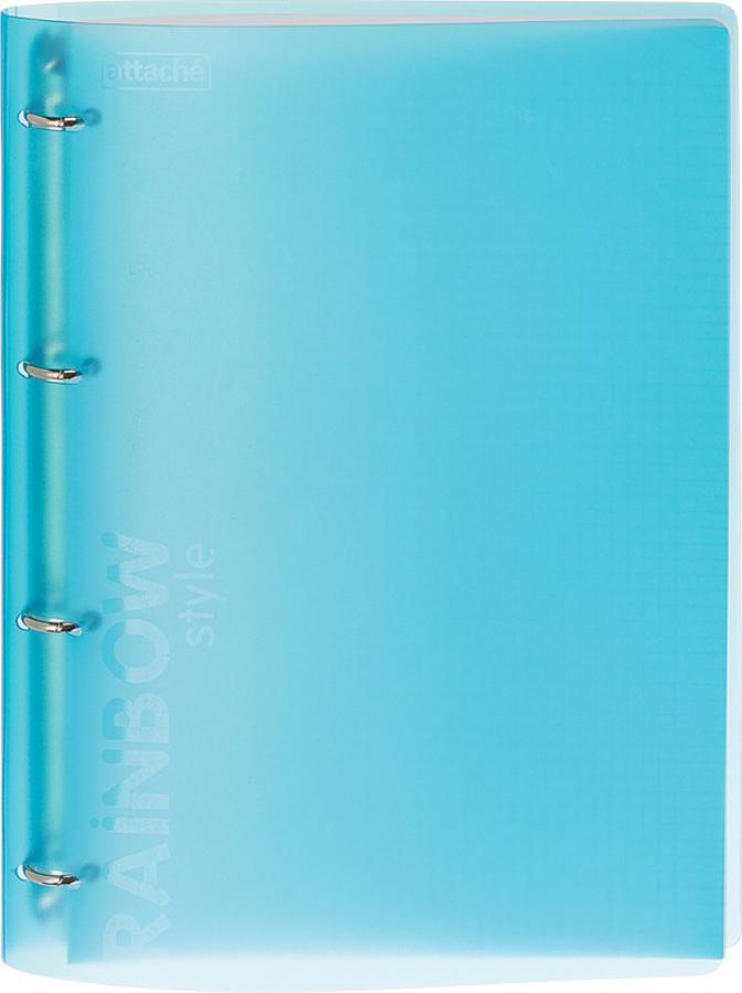 Тетрадь Attache Rainbow Style, цвет: голубой, А4, 120 листов, в клетку