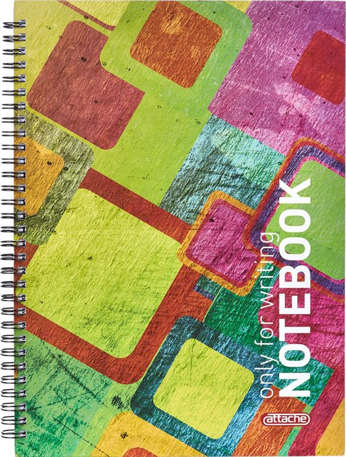 Тетрадь Attache Imagination, цвет: разноцветный, А4, 80 листов, в клетку ульяновский дом печати тетрадь 80 листов в клетку то 381