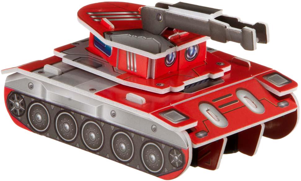 Bondibon Сборная 3D модель Танк цвет красный bondibon танк синий
