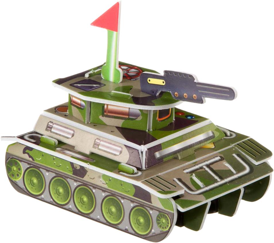 Bondibon Сборная 3D модель Танк цвет зеленый bondibon танк синий