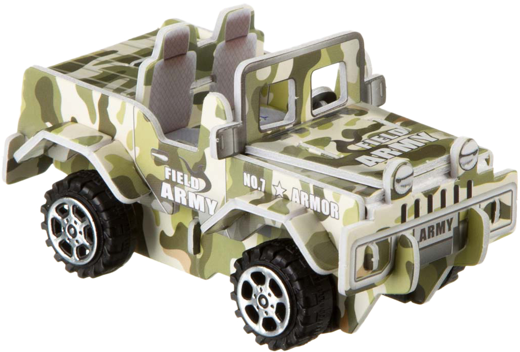 Bondibon Сборная 3D модель Внедорожник военный цены онлайн