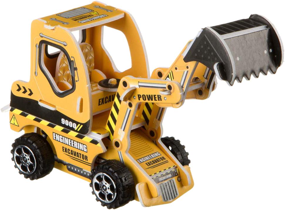 Bondibon Сборная 3D модель Экскаватор цвет желтый цены онлайн