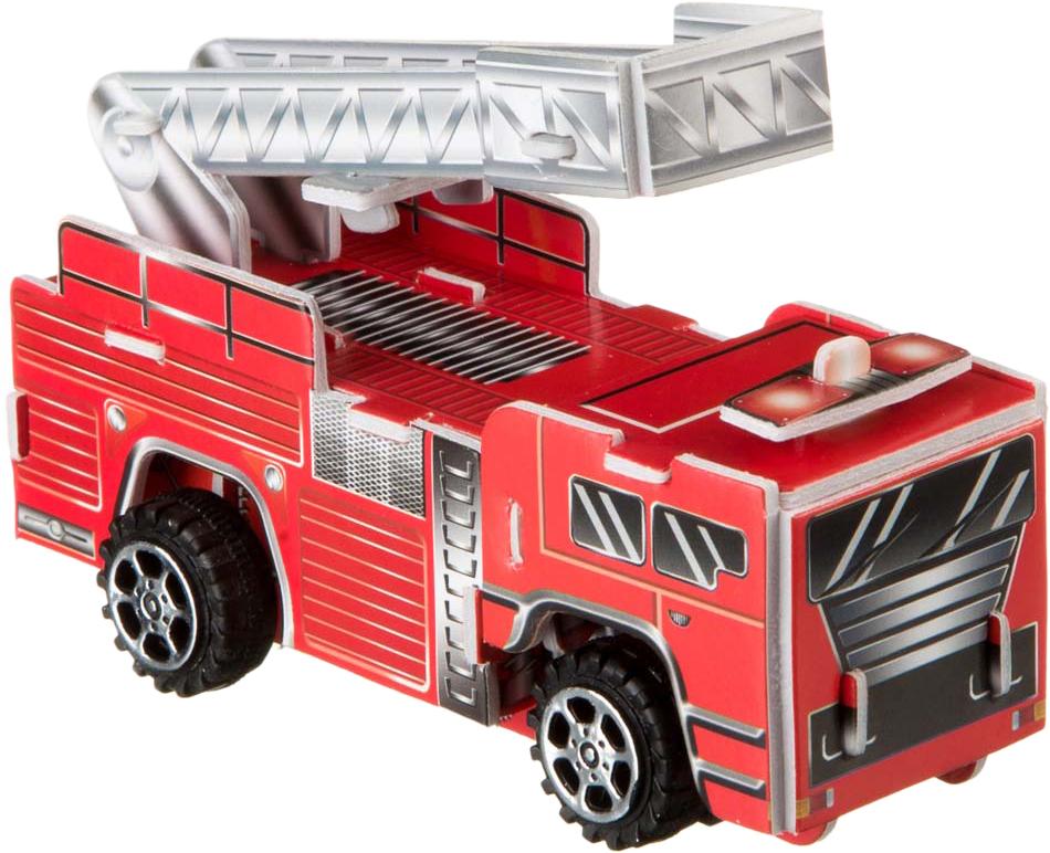 Bondibon Сборная 3D модель Пожарная машина ВВ2217 цены онлайн