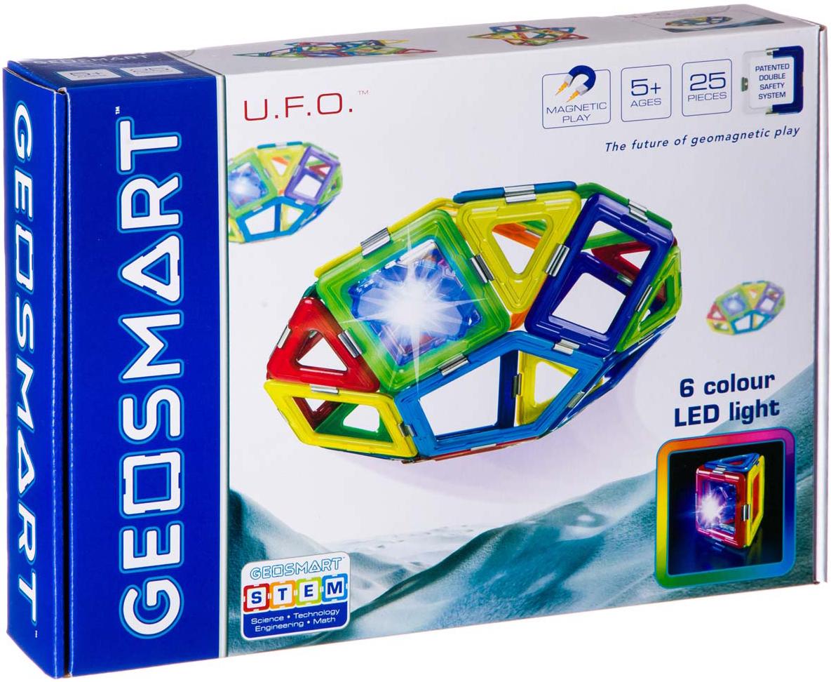 цена на Bondibon Магнитный конструктор Geosmart НЛО светящееся