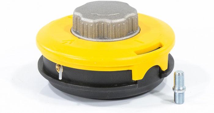 """Катушка триммерная полуавтоматическая """"Denzel"""", гайка M10 x 1,25, винт M10-M10, алюминиевая кнопка"""