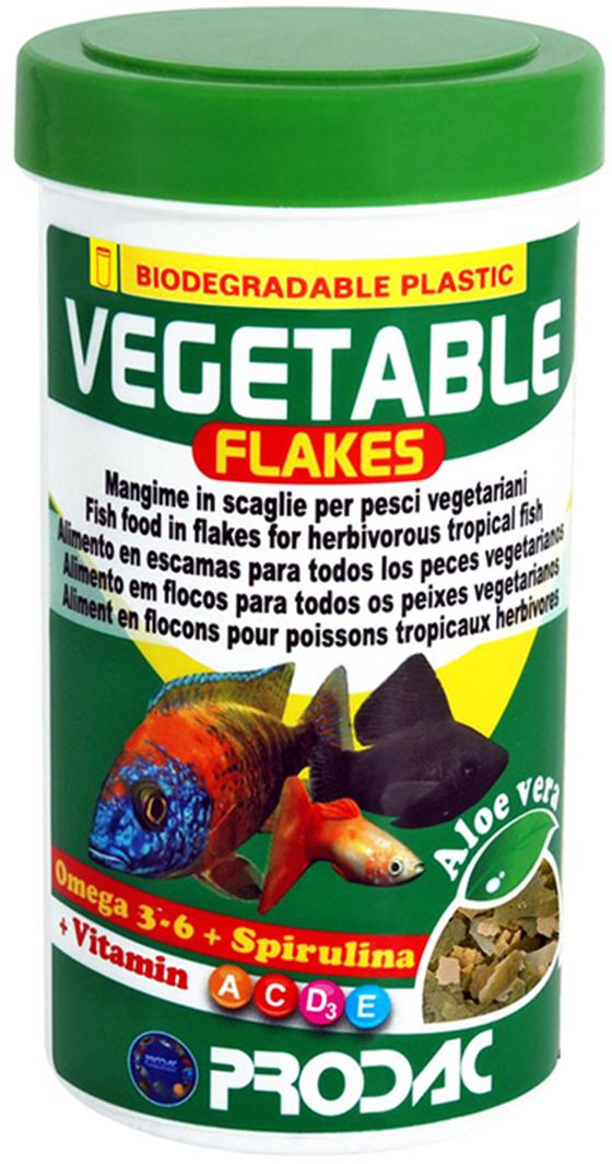 Корм сухой Prodac Vegetable Flakes, для аквариумных пресноводных рыб, в виде хлопьев, 20 г корм сухой prodac goldfish premium для аквариумных пресноводных рыб в виде хлопьев 200 г