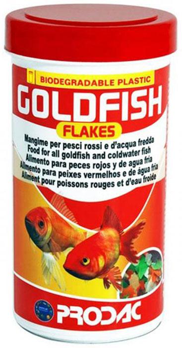 Корм сухой Prodac Goldfish Flakes, для аквариумных пресноводных рыб, в виде хлопьев, 32 г корм сухой prodac goldfish premium для аквариумных пресноводных рыб в виде хлопьев 200 г