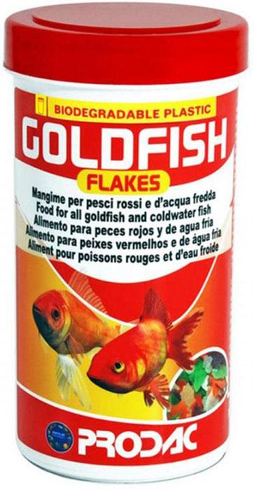 Корм сухой Prodac Goldfish Flakes, для аквариумных пресноводных рыб, в виде хлопьев, 160 г корм сухой prodac goldfish premium для аквариумных пресноводных рыб в виде хлопьев 200 г
