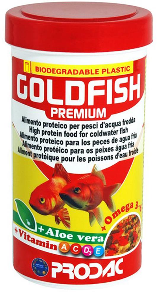 Корм сухой Prodac Goldfish Premium, для аквариумных пресноводных рыб, в виде хлопьев, 200 г корм сухой prodac goldfish premium для аквариумных пресноводных рыб в виде хлопьев 200 г