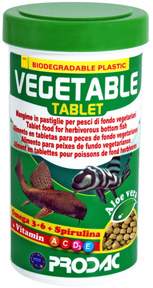 Корм сухой Prodac Vegetable Tablet, для аквариумных пресноводных рыб, в таблетках, 30 г витамины в таблетках