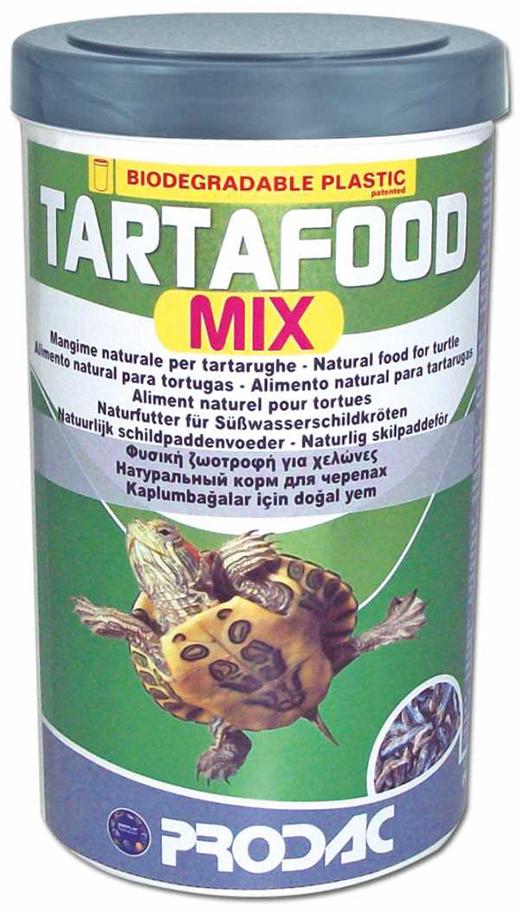 Корм сухой Prodac Tartafood Mix, для водных черепах, 200 г корм аква меню терра для водных черепах в виде плавающих гранул 15 г
