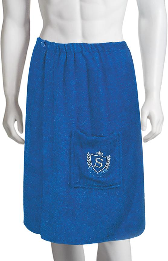 Килт для бани Soavita, цвет: синий, 60 х 140 см килт для бани soavita цвет серый 60 х 140 см