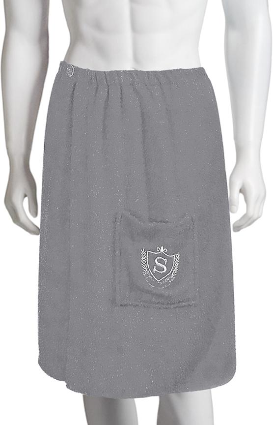 Килт для бани Soavita, цвет: серый, 60 х 140 см килт для бани soavita цвет серый 60 х 140 см