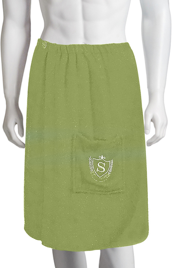 Килт для бани Soavita, цвет: зеленый, 60 х 140 см килт для бани soavita цвет серый 60 х 140 см