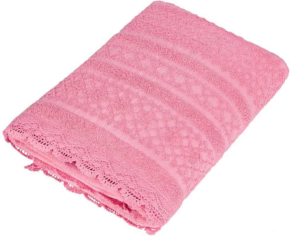Полотенце Soavita Кружево, цвет: красный, 48 х 90 см93051Махровое полотно создается из хлопковых нитей, которые, в свою очередь, прядутся из множества хлопковых волокон. Чем длиннее эти волокна, тем прочнее будет нить, и, соответственно, изделие. Длина составляющих хлопковую нить волокон влияет и на фактуру получаемой ткани: чем они длиннее, тем мягче и пушистее получится махровое изделие, тем лучше будет впитывать изделие воду. Хотя на впитывающие качество махры – ее гигроскопичность, не в последнюю очередь влияет состав волокна. Мягкая махровая ткань отлично впитывает влагу и быстро сохнет. Что бы изделие прослужило долго, нужно соблюдать правила ухода, см. значки ухода за изделием.