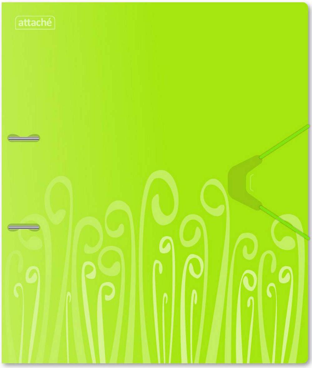 Attache Папка на 2 кольцах Fantasy А4 цвет салатовый314650Папка на двух кольцах Attache Fantasy изготовлена из высококачественного пластика салатового цвета. Формат изделия: А4. Папка надежно закрывается на резинку. Прорези на внешней крышке папки удерживают ее закрытой даже при большом количестве документов. Изделие выполнено в оригинальном стильном дизайне. Ширина корешка составляет 35 мм, диаметр кольца — 30 мм. Папка на кольцах вмещает до 300 листов стандартной плотности.