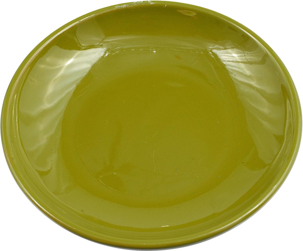 Фото - Блюдце Борисовская керамика Радуга, цвет: болотный, диаметр 10 см блюдце борисовская керамика радуга цвет темно серый диаметр 10 см