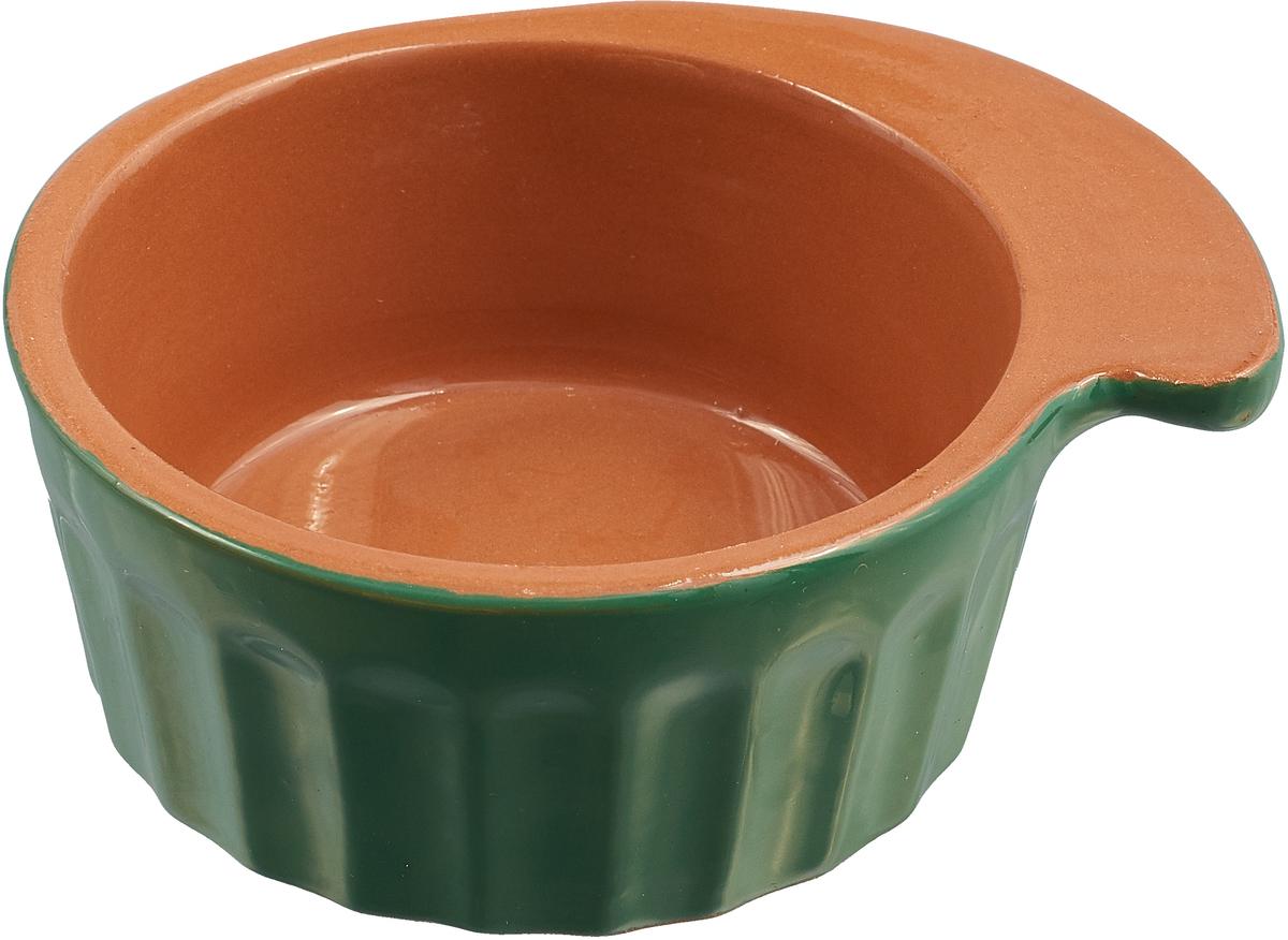 Фото - Кокотница Борисовская керамика Ностальгия, цвет: светло-коричневый, зеленый, 200 мл. РАД14457899 салатник борисовская керамика модерн цвет зеленый коричневый 500 мл