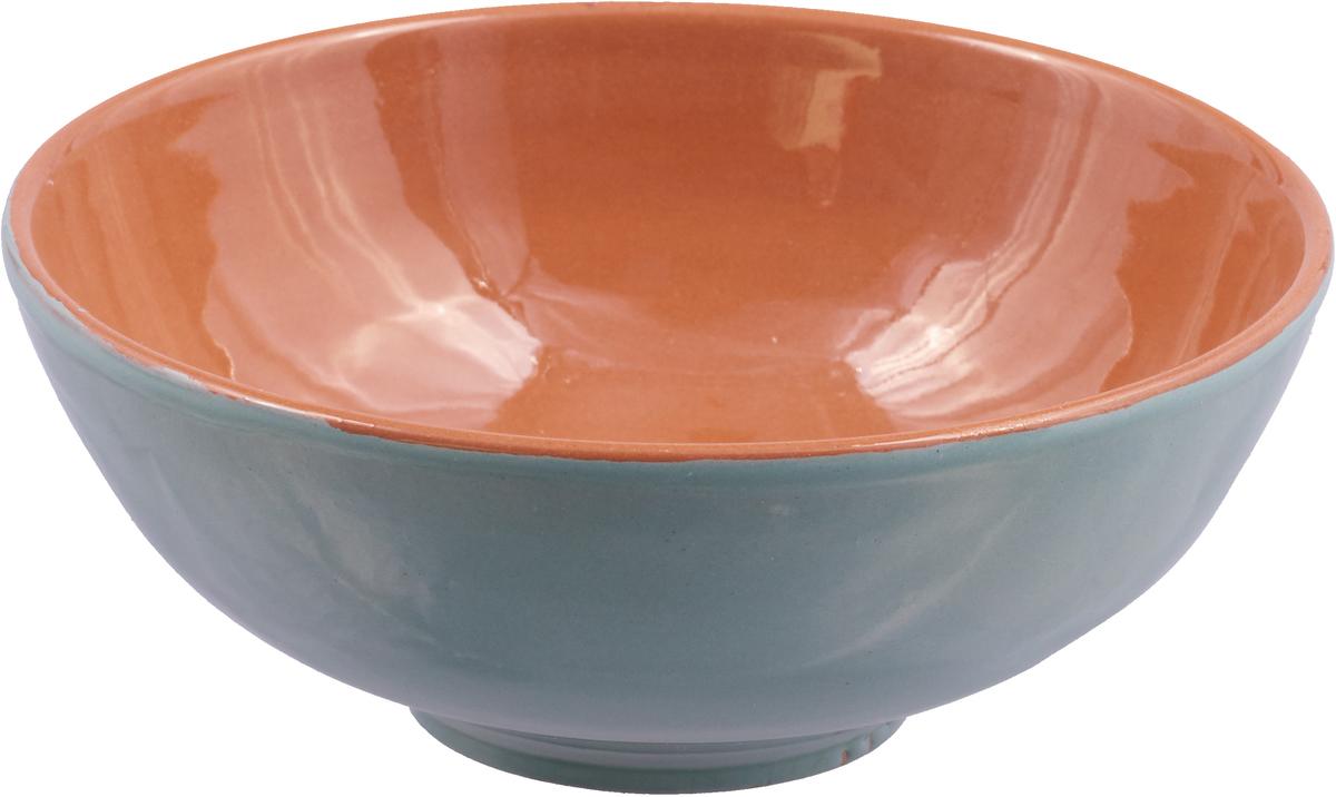 Фото - Салатник Борисовская керамика Удачный, цвет: бирюзовый, коричневый, 450 мл салатник борисовская керамика модерн цвет зеленый коричневый 500 мл