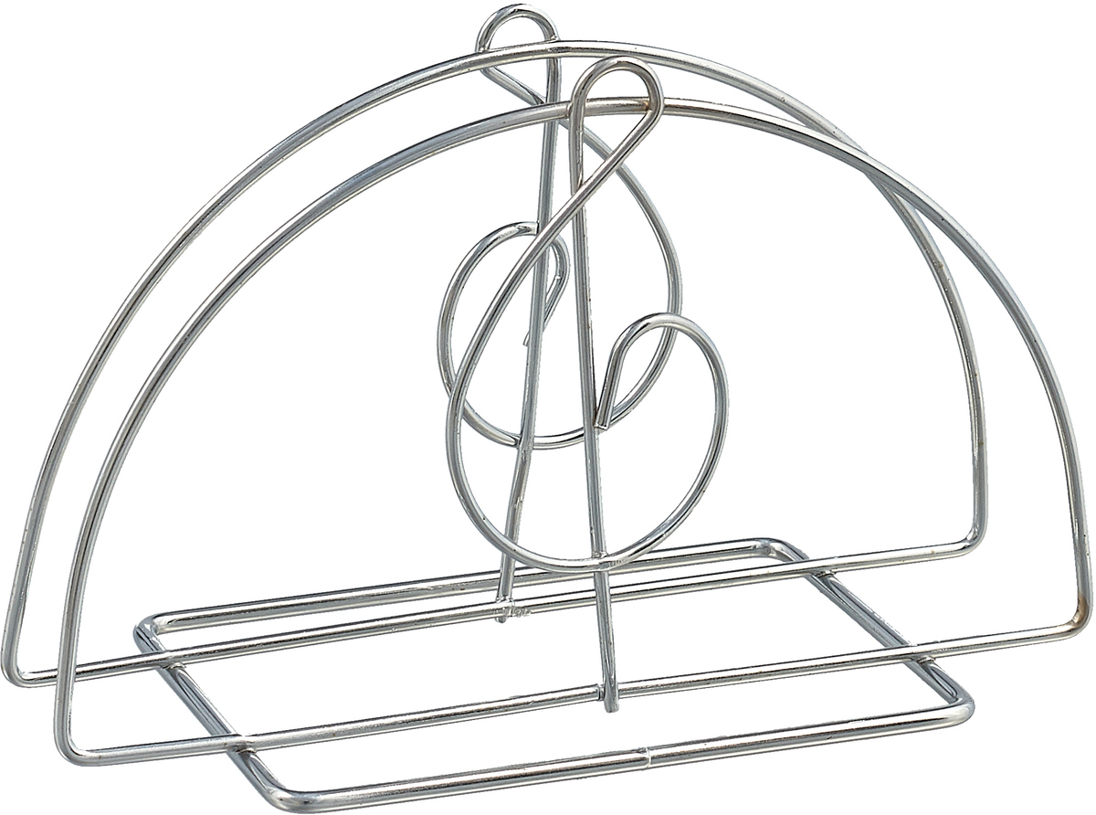 Салфетница металлическая МФК-профит Скрипичный ключ, 13,5 х 8 см форма для запекания мфк профит сабина овальная 30 х 20 5 х 5 см