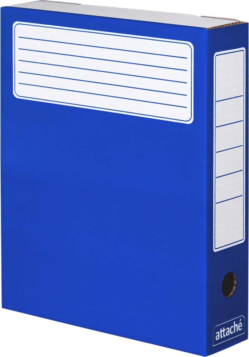 Attache Папка-регистратор А4 обложка 75 мм цвет синий 5 шт цена