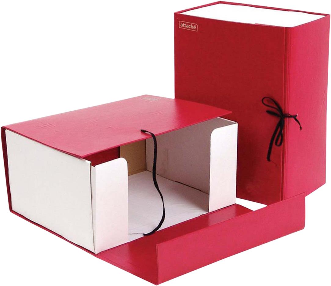 Фото - Attache Папка-регистратор складная А4 обложка 150 мм цвет красный [супермаркет] jingdong геб scybe фил приблизительно круглая чашка установлена в вертикальном положении стеклянной чашки 290мла 6 z