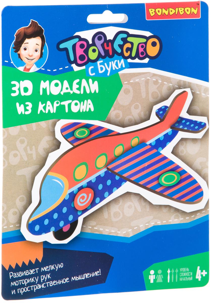 BondibonПоделка из бумаги 3D Самолет Bondibon