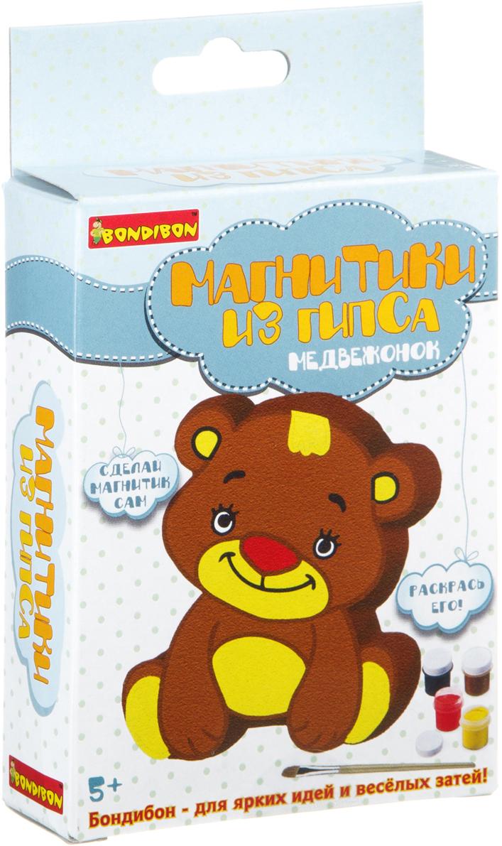 Bondibon Набор для лепки Магнитик из гипса Медвежонок цена в Москве и Питере