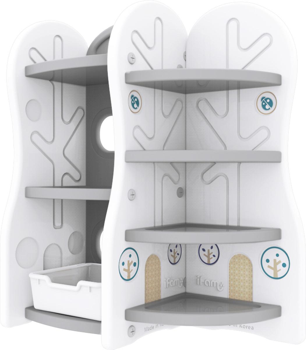 Ifam Стеллаж для игрушек DesignToy-7 цвет серый детские игрушки 7 км интернет магазин одесса недорого