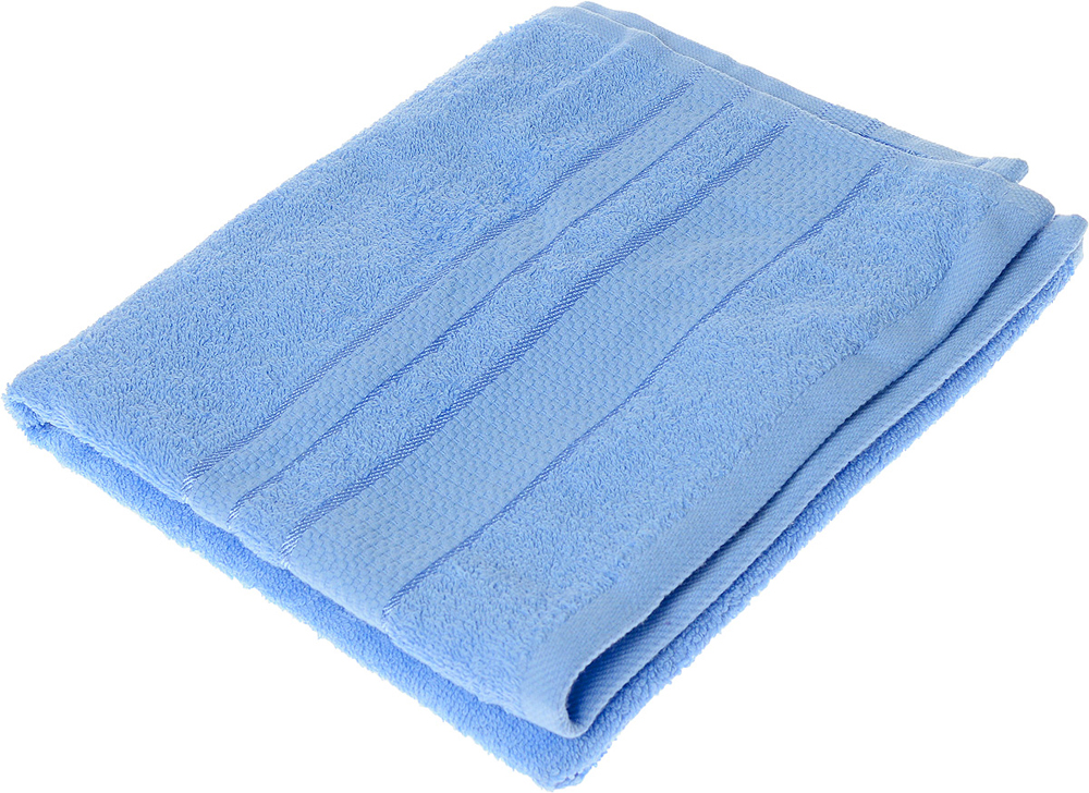 """Полотенце махровое Aisha Home Textile """"Классика"""", цвет: голубой, 50 х 90 см"""