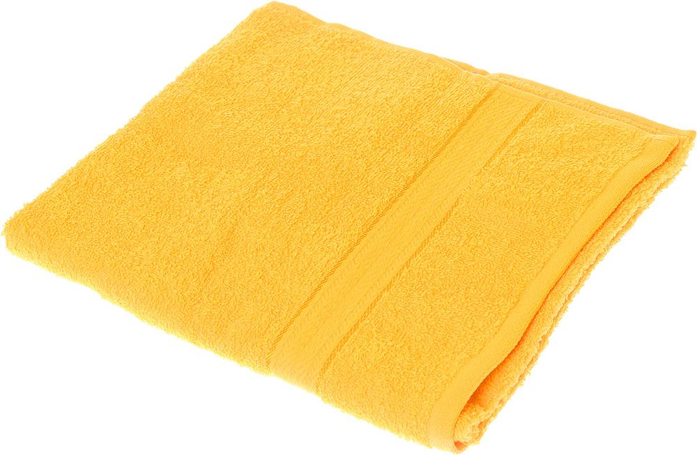 """Полотенце махровое Aisha Home Textile """"Колосок"""", цвет: желтый, 50 х 90 см"""