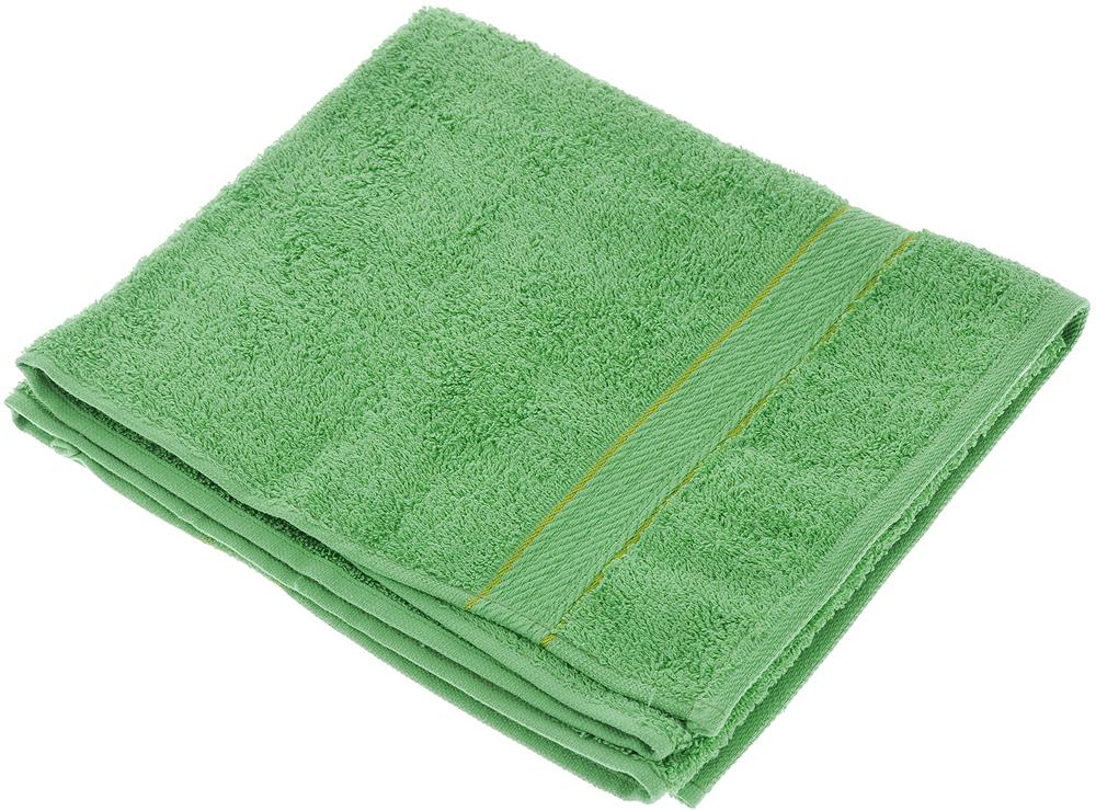 "Полотенце махровое ""Aisha Home Textile"", цвет: зеленый, 50 х 90 см"