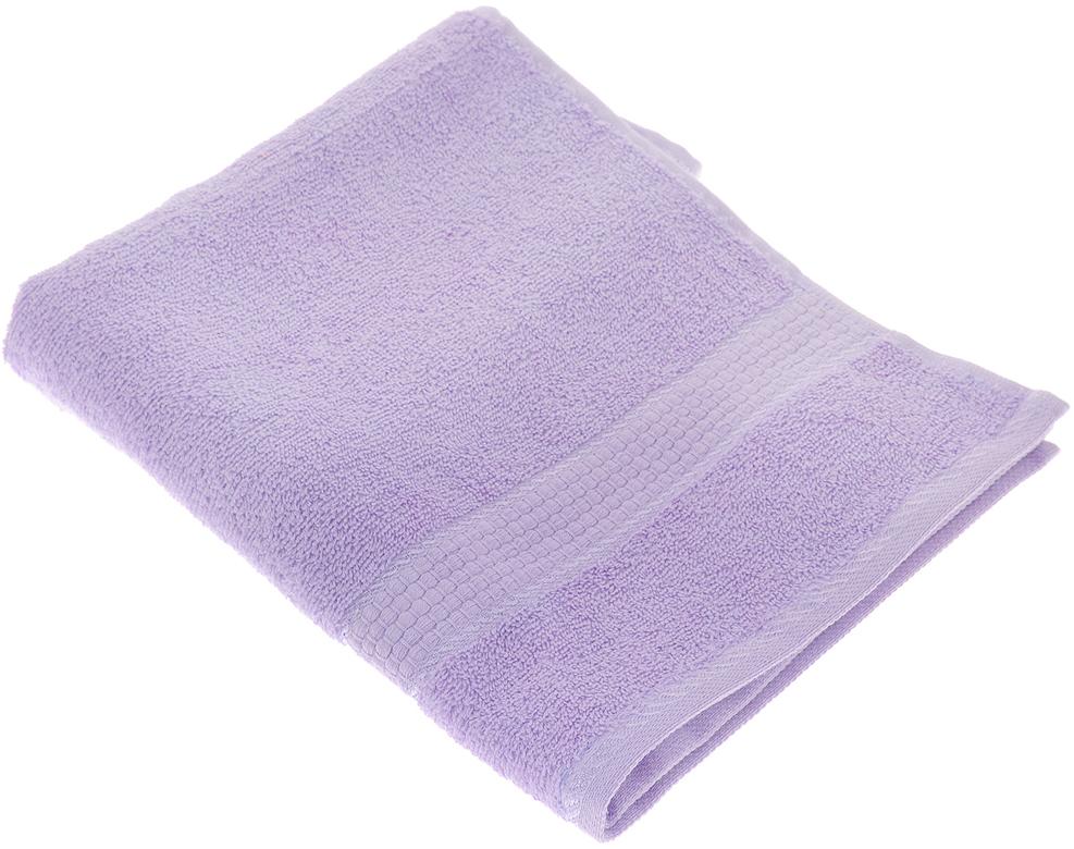"""Полотенце махровое Aisha Home Textile """"Соты"""", цвет: сиреневый, 50 х 90 см"""