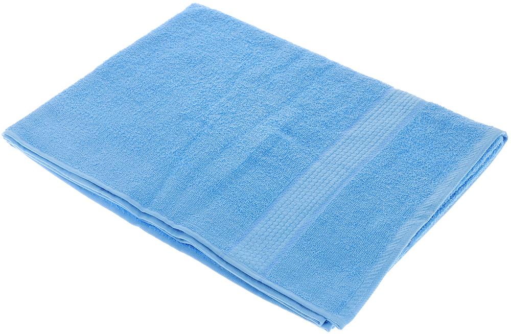 """Полотенце махровое Aisha Home Textile """"Соты"""", цвет: голубой, 70 х 140 см"""