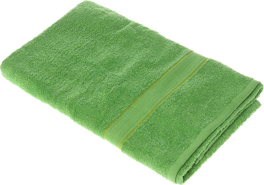 """Полотенце махровое Aisha Home Textile """"Колосок"""", цвет: зеленый, 70 х 140 см"""