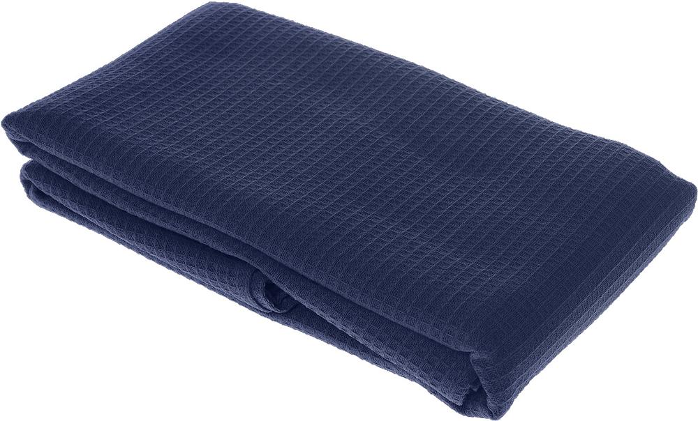 Полотенце-простыня для бани и сауны Банные штучки, цвет: темно-синий, 80 х 150 см лавочка для бани и сауны банные штучки разборная