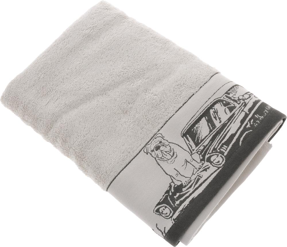 Полотенце Mona Liza Pet, цвет: светло-серый, серый, 70 х 140 см полотенце mona liza surf 70 х 140 см