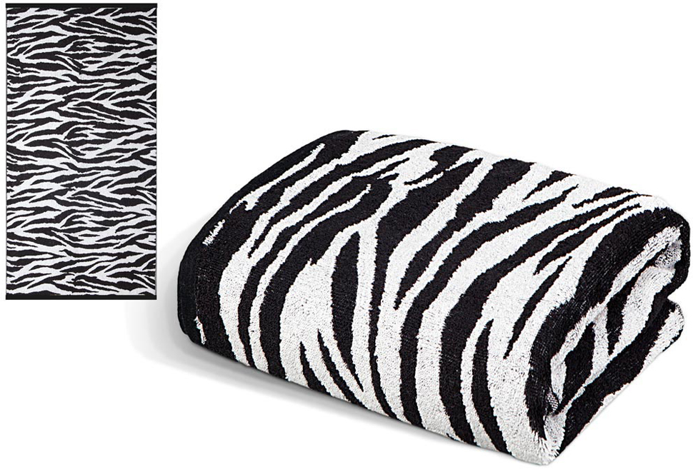 Полотенце Soavita Premium. Зебра, 65 х 130 см полотенца soavita полотенце добби 50х70 см