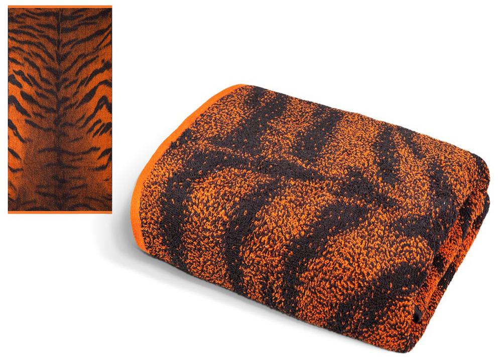 Полотенце Soavita Premium. Тигр 2, цвет: черный, оранжевый, 65 х 135 см полотенца soavita полотенце добби 50х70 см