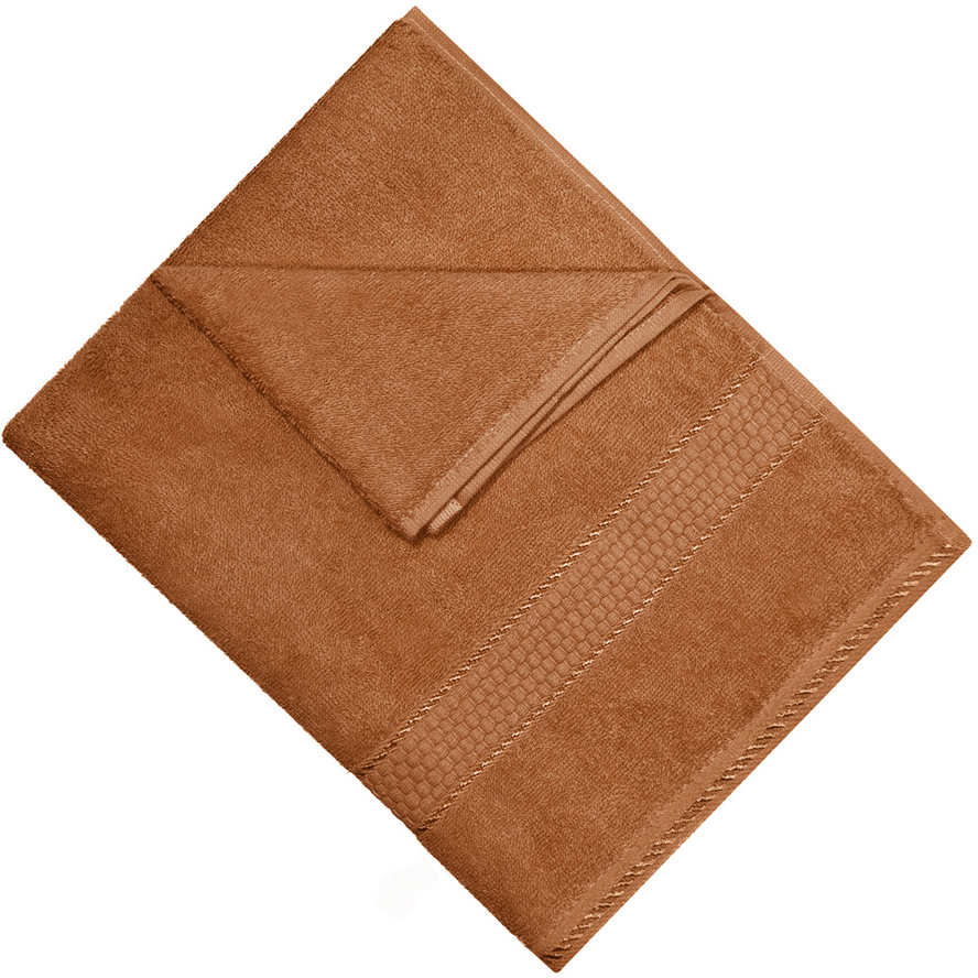 """Полотенце """"Aisha Home Textile"""", цвет: коричневый, 70 х 140 см. УзТ-ПМ-114-08-20к"""