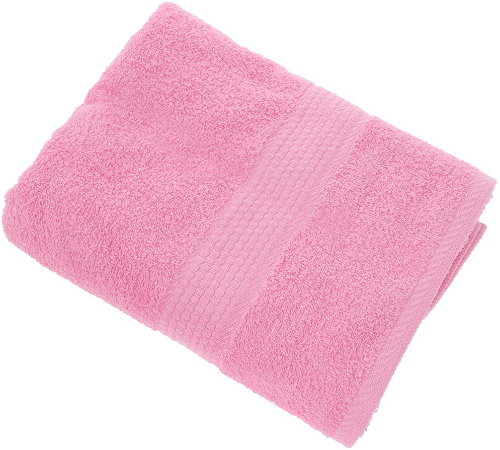 "Полотенце ""Aisha Home Textile"", цвет: розовый, 70 х 140 см"
