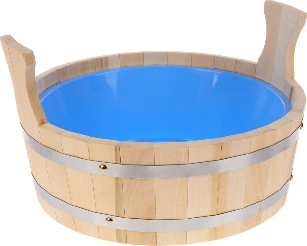 Фото - Шайка для бани Невский банщик, с пластиковым вкладышем, цвет в ассортименте, 9 л килт для бани и сауны невский банщик мужской цвет зеленый 60 см бн88