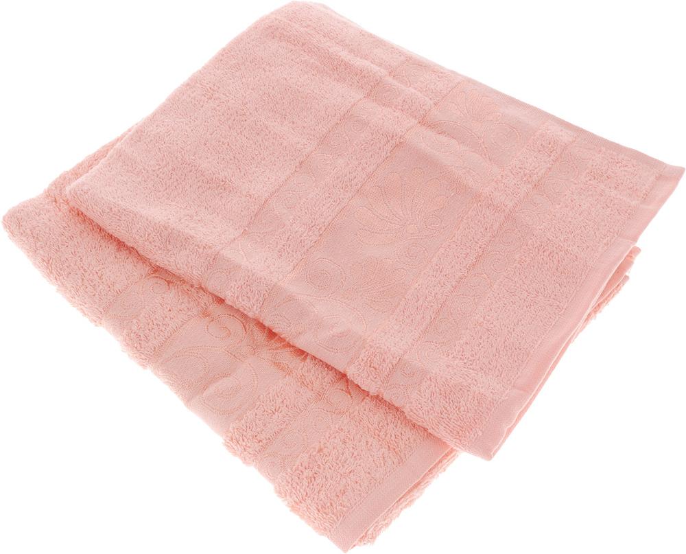 Набор полотенец Tete-a-Tete Цветы, цвет: светло-розовый, 50 х 90 см, 2 шт. УП-005 набор полотенец tete a tete сердечки цвет голубой 50 х 90 см 2 шт