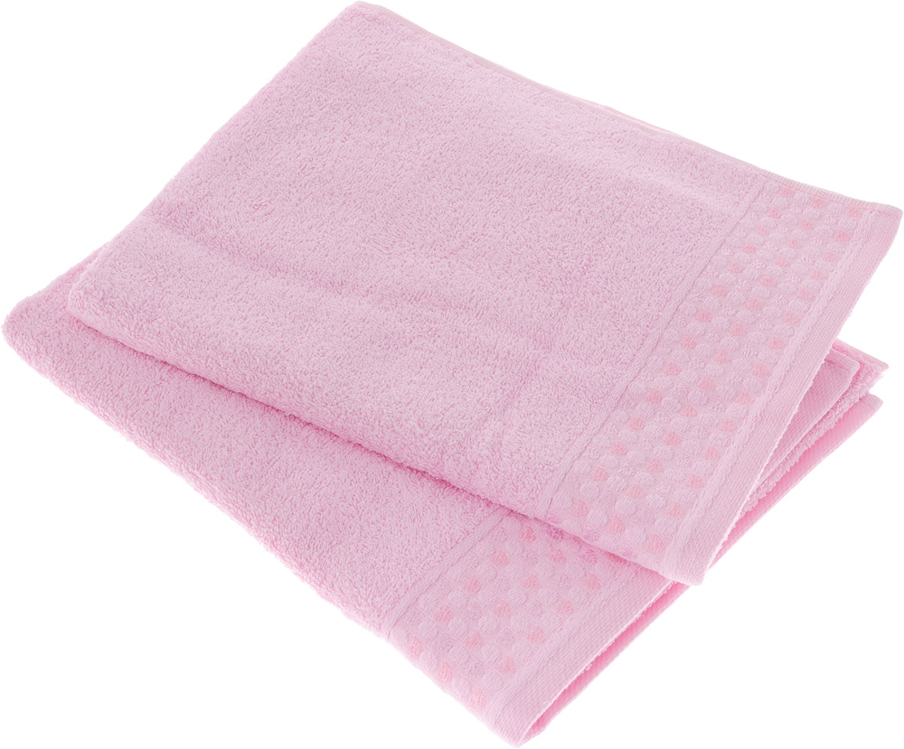 Фото - Набор полотенец Tete-a-Tete Сердечки, цвет: розовый, 50 х 90 см, 2 шт. УП-007 набор полотенец tete a tete лабиринт цвет зеленый 50 х 90 см 2 шт уп 009