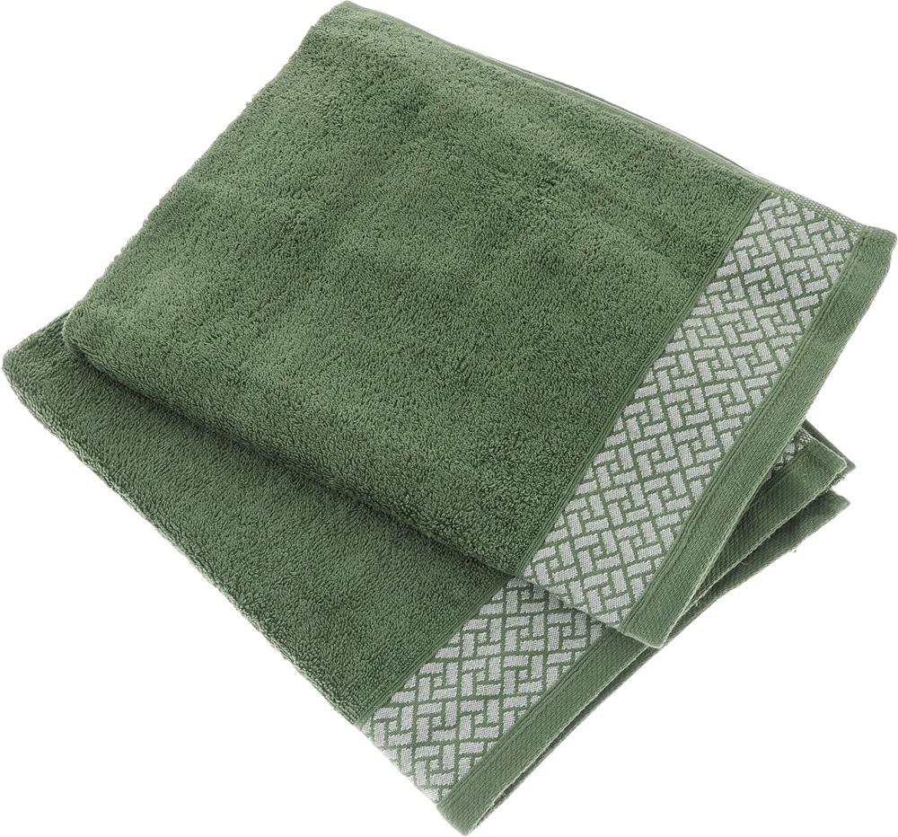 """Набор полотенец Tete-a-Tete """"Лабиринт"""", цвет: зеленый, 2 шт. УНП-105"""