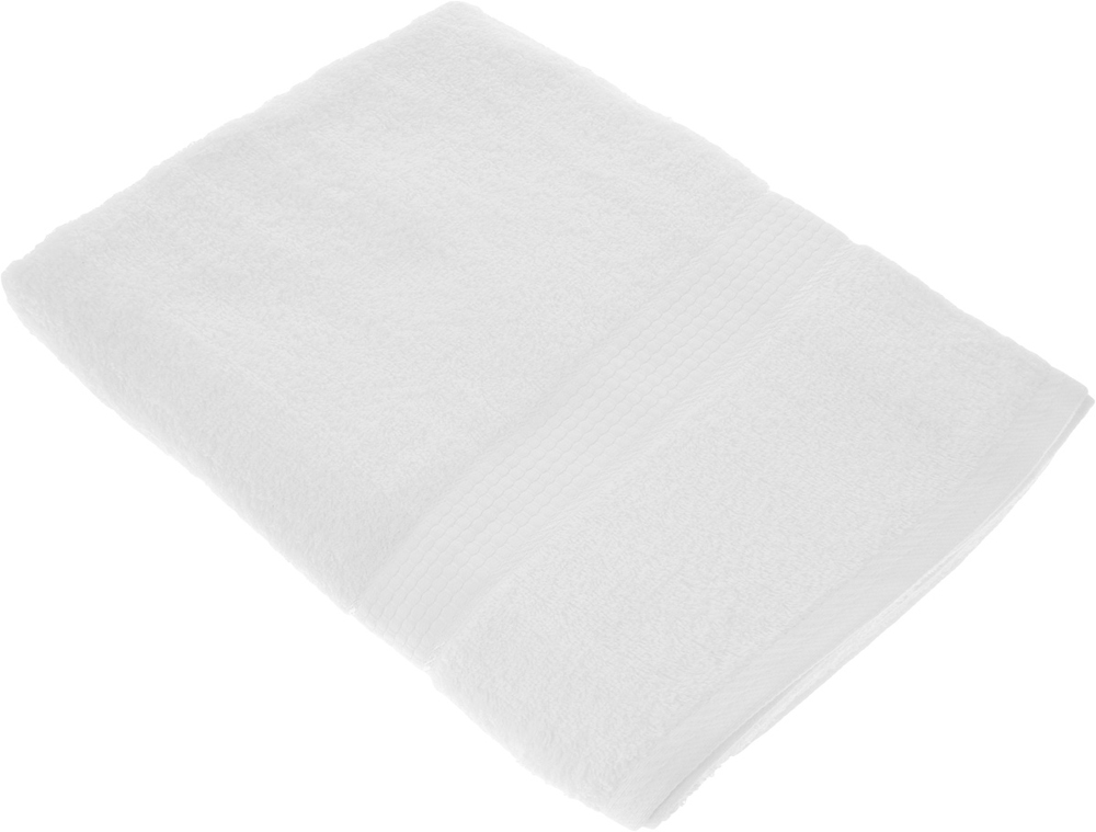 "Полотенце махровое Aisha Home Textile ""Соты"", цвет: белый, 50 х 90 см"