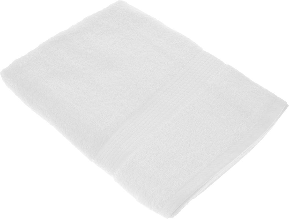 "Полотенце махровое Aisha Home Textile ""Соты"", цвет: белый, 70 х 140 см"