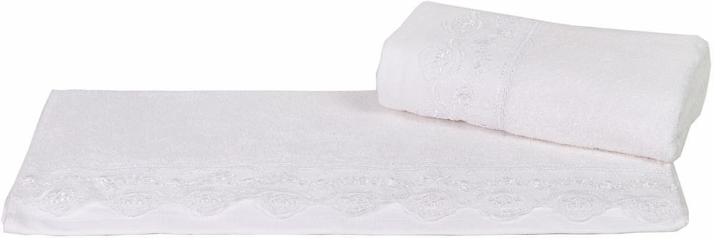 "Полотенце махровое Hobby Home Collection ""Almeda"", цвет: белый, 50х90 см. 1501000371"