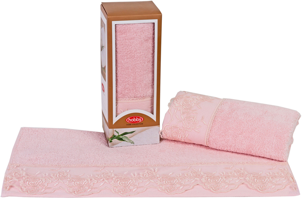 "Полотенце махровое Hobby Home Collection ""Almeda"", цвет: пудра, 50 х 90 см"