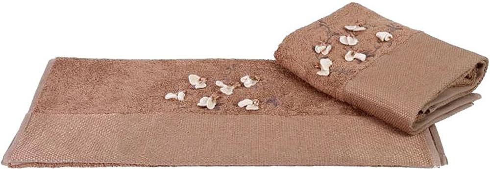 "Полотенце махровое Hobby Home Collection ""Beyra"", цвет: коричневый, 50 х 90 см"
